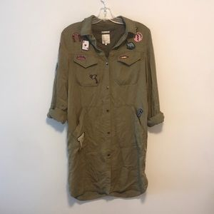 Zara outerwear with embroidered patches sz s